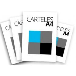 Carteles A4 a 1 o 2 tintas