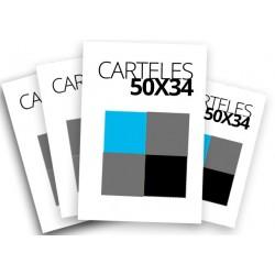 Carteles 50x34 a 1o 2 tintas