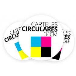 Carteles circulares 34cm